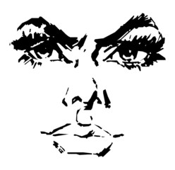 Beautiful Woman's Face Vector 03