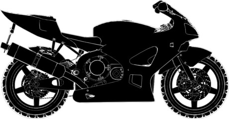 Motorcycle Vector 04