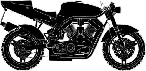 Motorcycle Vector 02