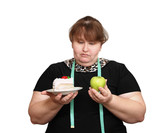 dieting overweight women choice poster