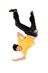 Breakdancer on arm