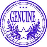 Illustration of a grunge rubber ink stamp: GENUINE poster