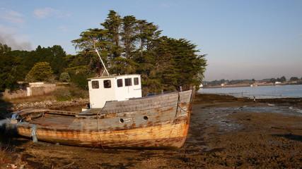 deserted fishing boat