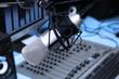 Leinwanddruck Bild - In radio studio