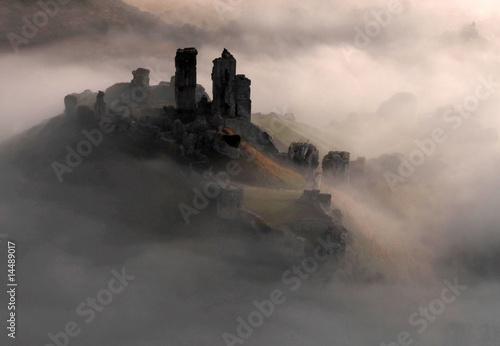 Leinwandbild Motiv Corfe Castle