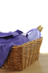 Detergent and Purple Laundry