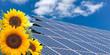 Sonnenenergie / Solar und Sonnenblume