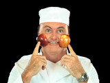 Rosy Cheeked Apple Chef poster