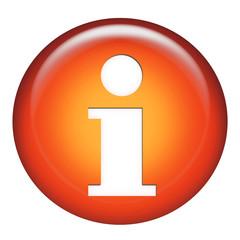information symbol orange