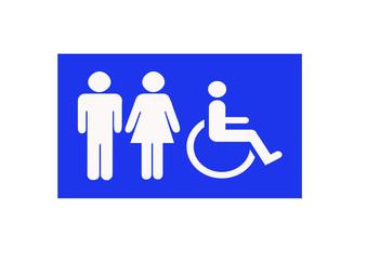 blue toliets sign
