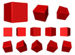 red 3d rotating cubes