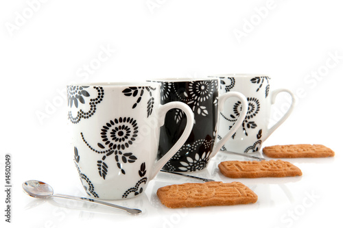 coffee mugs with cookies