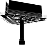Billboard Outdoor Advertising Construction Vector 02 poster