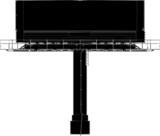 Billboard Outdoor Advertising Construction Vector 01 poster