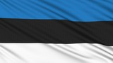 Estonia flag, with real structure of a fabric poster