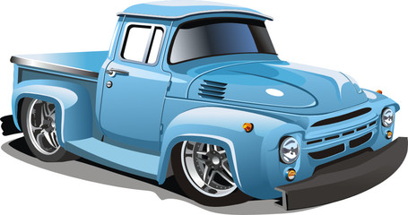 Vector cartoon hotrod truck