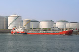 Oil Tanker and Silos