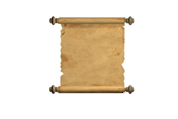 Scroll of old parchment. Alpha channel is included