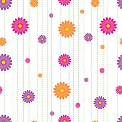 Vibrant Daisy Seamless Tile