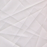 folded and creased graph paper poster