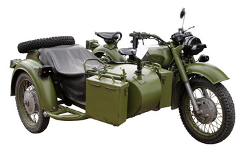 old (60-70th) military motorcykle