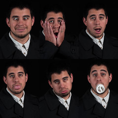 multiplefaces on black background