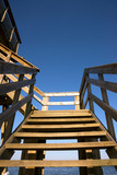 Wooden staircase poster