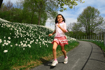 Little girl in spring