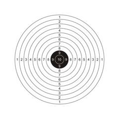 Zielscheibe Schießstand