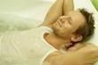 a man in the bath