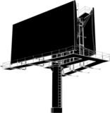 Billboard Outdoor Advertising Construction Vector 12 poster