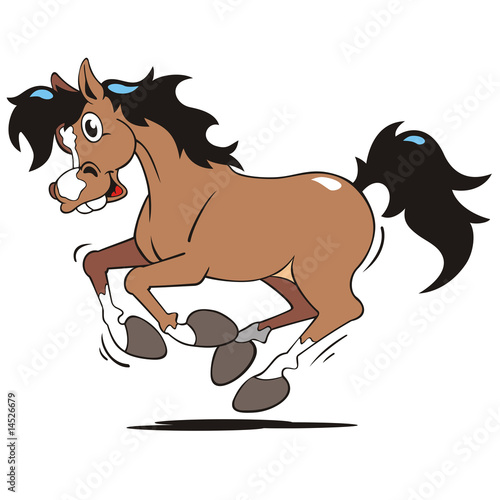 Poster Paardrijden galappierendes Pferd