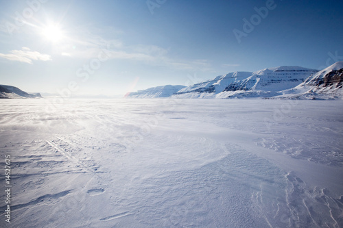 In de dag Antarctica 2 Mountain Winter Landscape