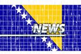 Flag of Bosnia Hertzigovina news poster