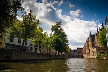 Kanal in Bruegge, Belgien
