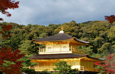 golden pavilion in autumn