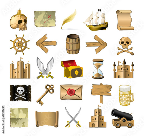 Pirate Map Symbols http://us.fotolia.com/id/14531490