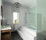 Fototapety Bathroom. Modern design of interior