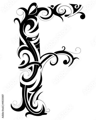 Decorative F letter from Aleksej Kostin, Royalty-free vector #14535007 ...