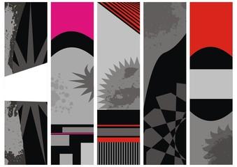 set vector banners