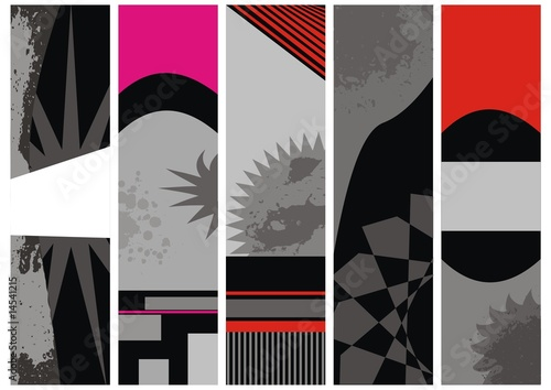 set vector banners