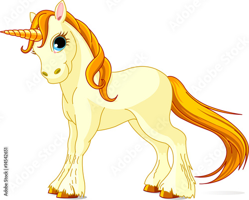 Poster Pony Standing beautiful cute unicorn