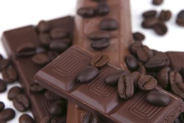 dark chocolate bars close up