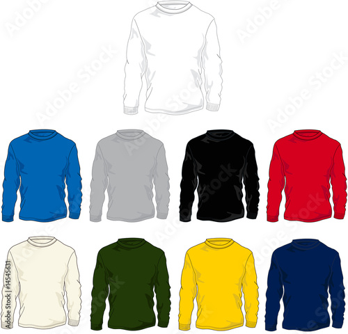 t shirt template vector. Long Sleeve T-Shirt Template