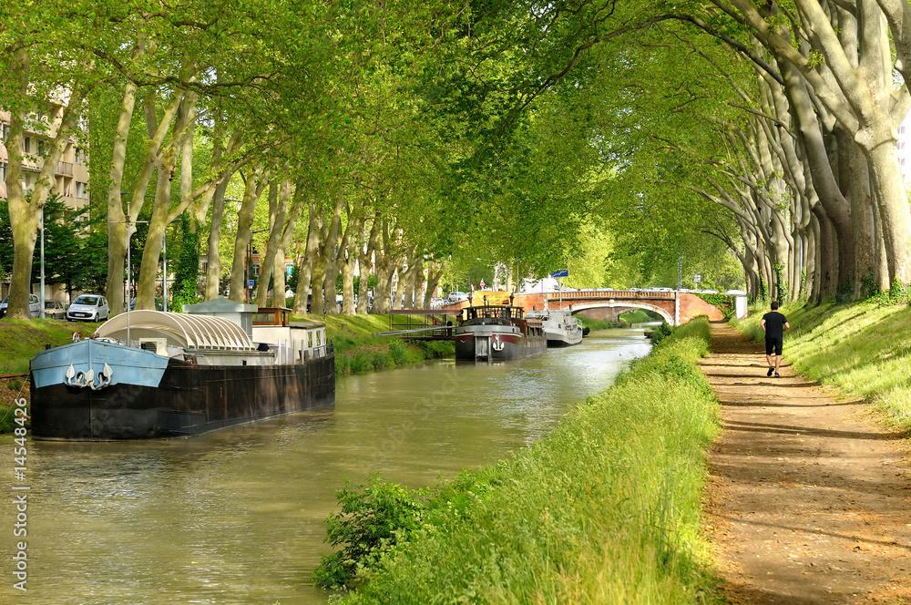 La pose en embrasure le canal du midi toulouse nikkel for Jardin japones toulouse