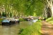 Leinwanddruck Bild - Le canal du Midi (Toulouse).