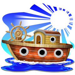 Barca Clip Art-Boat Cartoon-Bateau