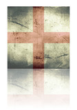 Grunge flag of england with shadow