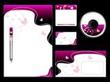Pink Stationery Set poster