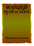 Wanted dead or alive poster poster